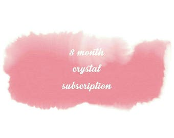 Crystal Subscription Box ~ 3 month subscription ~ Monthly Subscription Box~ Monthly Crystal Box ~ Crystal Gift ~ Crystal Gift Set