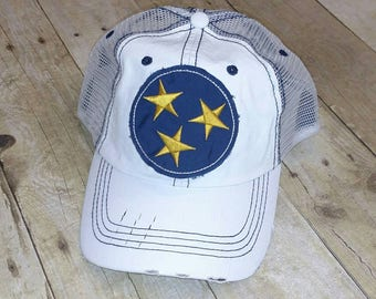 Tennessee Tristar Nashville Distressed Trucker Hat