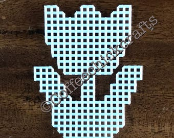 Plastic Canvas Tulip Flower Cut Outs Plastic Canvas for Needlepoint Tulip Shape Spring