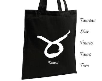 Taurus Astrological Sign Cotton Tote Bag Canvas Bag Women