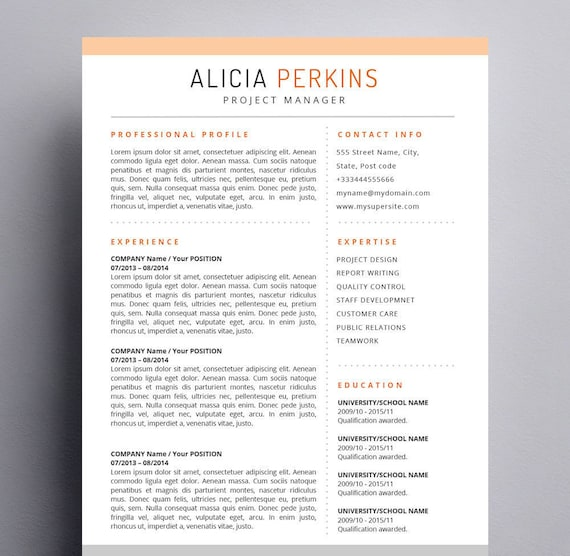 Resume Template For Mac Apple Pages  Word For Mac Ready