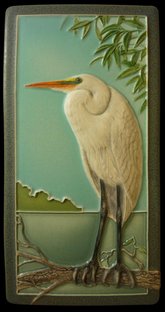 Decorative Motifs - Arts & Crafts Homes and the Revival  Arts Craft Tile Egret
