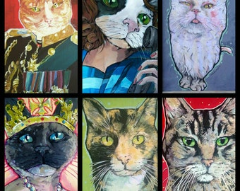 Your Cat Here - custom made to order kitty painting - I can paint your kitteh