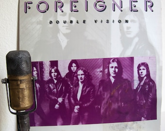 "ON SALE Foreigner Vinyl LP Record Vintage 1970s Classic Rock ""Double Vision"" (Scarce 1978 Columbia House record club edition w/""Hot Blooded"""