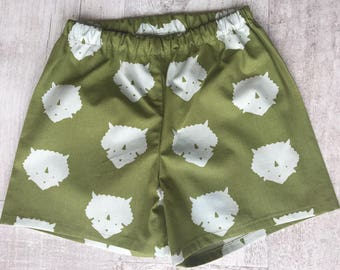 Baby triceratops shorts, available in sizes 000-1