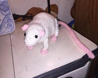 Crochet Stuffed Rat