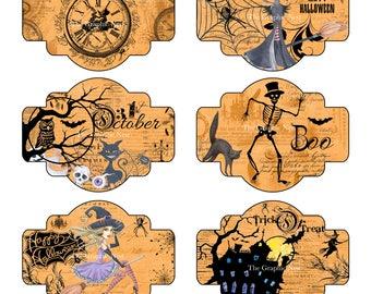 Halloween labels. Digital download