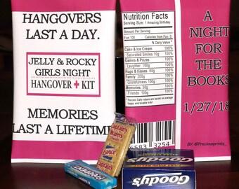 Hangover kit favor bag