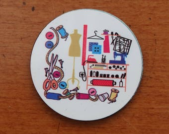 Pack of 6 Sewing Scene Pattern Weights
