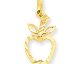Diamond Cut Apple Charm (JC-781)