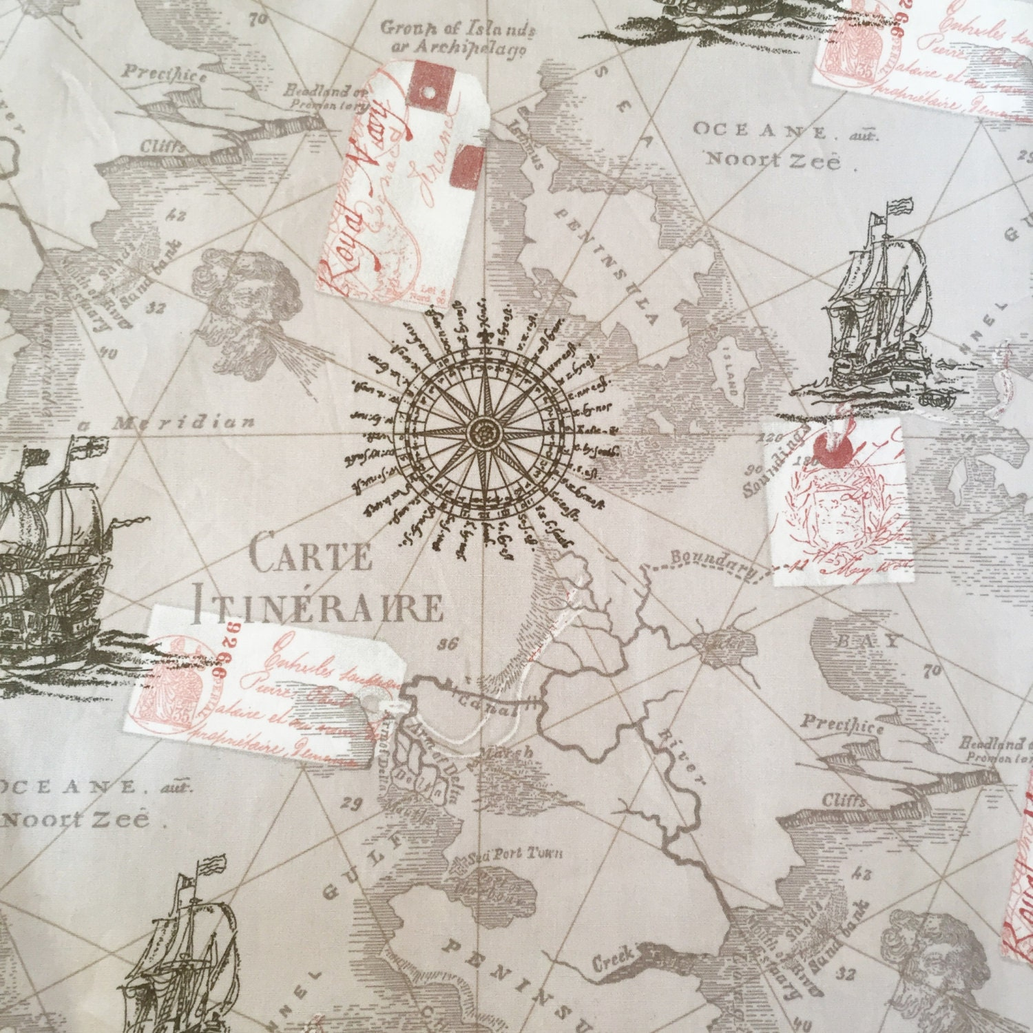 Map fabric by the yard world map fabric vintage map print fabric 200 gumiabroncs Image collections