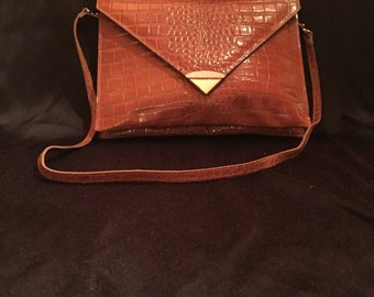 80's Leather Clutch W/ Removable Strap