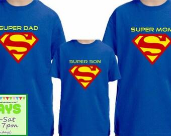 Super Family shirts, Superman Logo