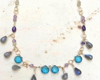 London Blue with Labradorite Necklace