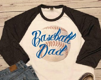 Baseball Dad Raglan