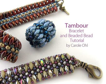 Tambour Bracelet and Beaded Bead Tutorial by Carole Ohl