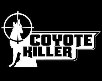 Coyote Killer Vinyl Decal Sticker
