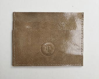 Gold Card Case - L.PITTFORD - Made In England - Handmade - Leather - Wallet / Coin purse