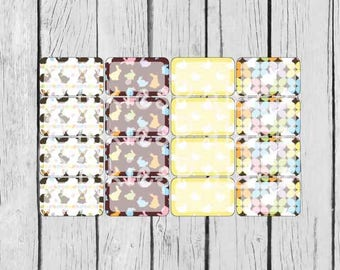 Easter Planner Stickers Half Box Planner Stickers set of 16 stickers eclp PS381f
