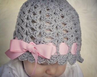 Little Miss Muffett Shells Hat Crochet Patterns (404)