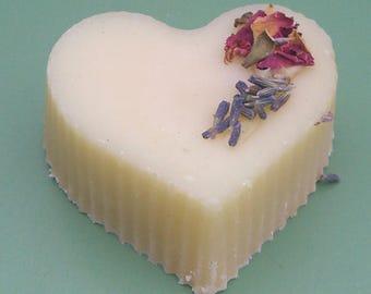 Heart soaps, 3 Fragrances. Cold process soap. Rose, Lavender, Geranium, Frankincense. Gift Soap. Soap for her. Handmade UK