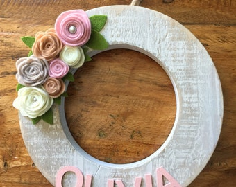 Girls personalized letter decor