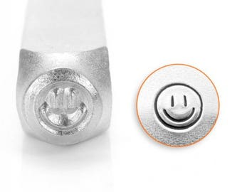 Metal Stamp Smiley Face-Emoticon-ImpressArt- 3mm  Metal Design Stamp-Perfect for Your Hand Stamping Needs-Steel Stamps