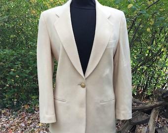 Women's 80s Jacket in Cream Wool / Pietrafesa Winter White Blazer