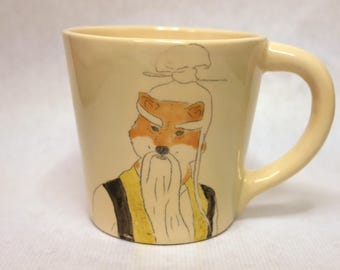 Large mug Pai Mei from Film star shiba series // coffee // tea // large cup // underglaze // ceramic // gift // present // for movie lover