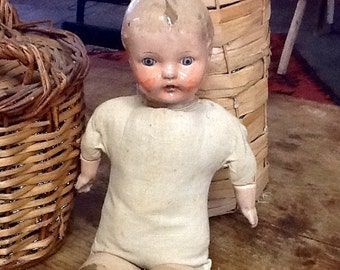 Vintage Composition and Cloth Doll