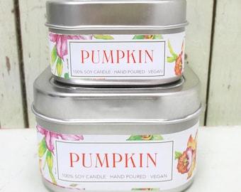 Fall Pumpkin Soy Candle 4 oz. - Green Daffodil - Anne and Siouxsan -C4