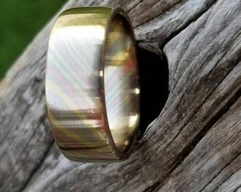 Mokumosaic Mokume Gane Ring