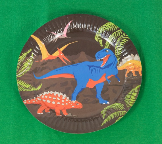 sc 1 st  Etsy Studio & Set of Eight Dinosaur Paper Plates from MarvellousCat on Etsy Studio