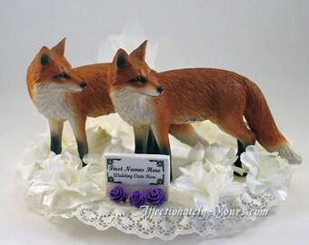 Fox Bride | Fox Groom | Fox Wedding Cake Topper | Fox Anniversary Cake Topper | Customized