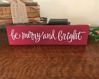 Be Merry and Bright wood pallet sign