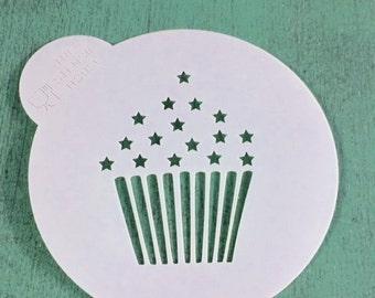 Cupcake cookie stencil