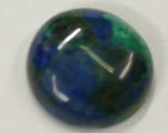 2pcs Natural Azurite Malachite Round Calibrated Cabochon High Quality Gemstones 6mm 8mm 10mm FREE SHIPPING