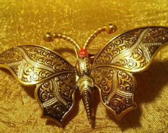 Damascene Butterfly Brooch Made in Spain