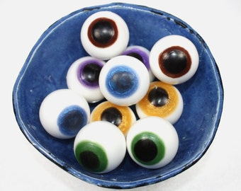 Pair of Eyeball Soaps - halloween, creepy soaps, ophthalmologist, optician, optometrist, eyes, looking, party favor, zombies,