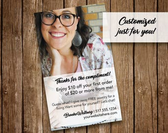 Customizable Compliment Card, Direct Sales Consultant, Printable, Digital File, Premier Designs Compatible
