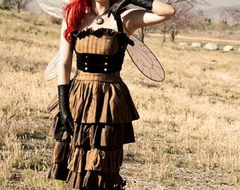 Black Velvet Underbust Vest Harness (Made to Order)
