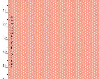 Coral Tiny Arrows Fabric, Southwestern Arrows Quilt Fabric, 3 Wishes Pachua 12935 Coral, Southwest Fabric, Cotton Yardage