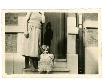 Vintage photo - On the step - Original Vintage Photos from PhotoTrouvee - 1960s found photo
