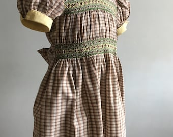 Vintage Girl's Dress, Vintage Hand Smocked Dress