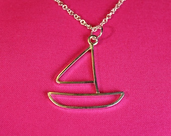 Sailboat Sterling Silver Necklace Pendant