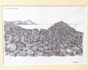 The Giants Causeway, Co. Antrim Print