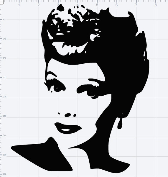 Download I Love Lucy Lucille Ball SVG EPS DXF Studio3 Cut File