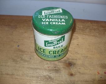 Vintage Fairmont Imperial Bulk Ice Cream Tin