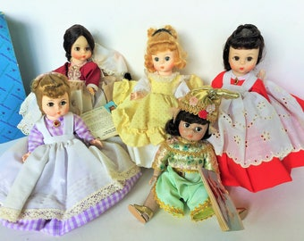 Dolls Madame Alexander, Alexander kins, Little Women Dolls and Thailand doll 1976
