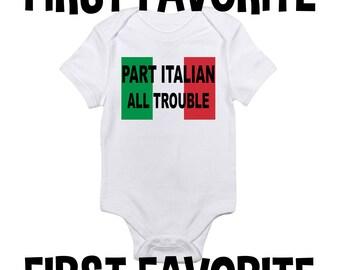 Partie italien tout mal bébé grenouillère Body chemise douche cadeau grossesse annonce naissance révèlent emporter nourrisson nouveau-né - drôle de 24M